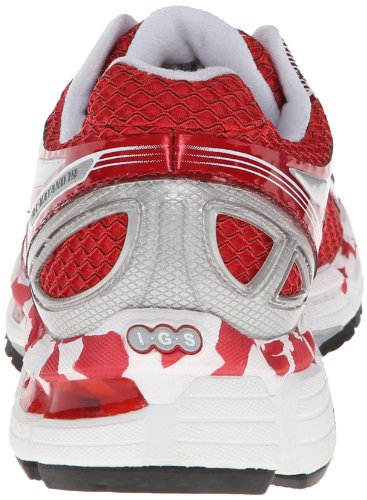 Asics Gel Galaxy Women's Cushioned Running Shoes, Silver/Red